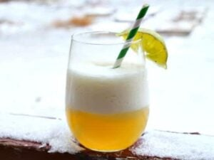 Barbados Punch is an easy, refreshing cocktail with pineapple and lime. Bring the beach home, anytime. RestlessChipotle.com