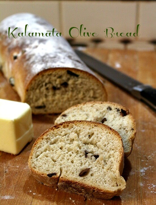 Kalamata olive bread is simplified so that even the novice baker can ...