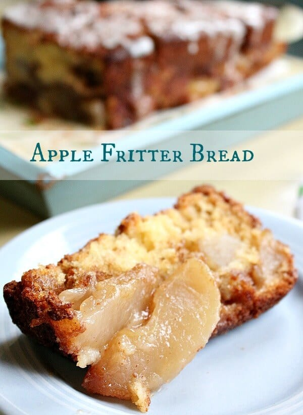 Apple fritter bread is a delicious quick bread for breakfast or brunch. restlesschipotle.com