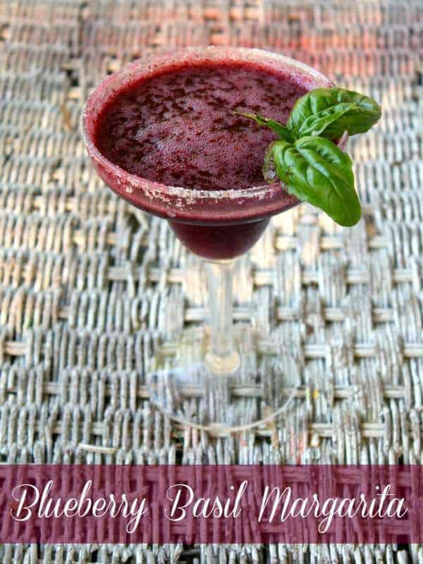 frozen blueberry basil margarita is all kinds of refreshing on a hot day ... from restlesschipotle.com