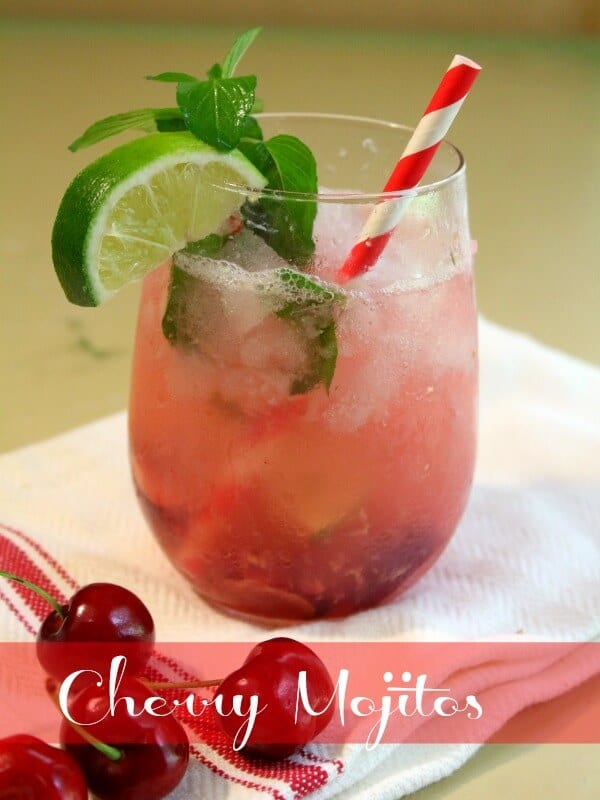 Cherry mojito recipe is light and refreshing for summer. So good!  - restlesschipotle.com