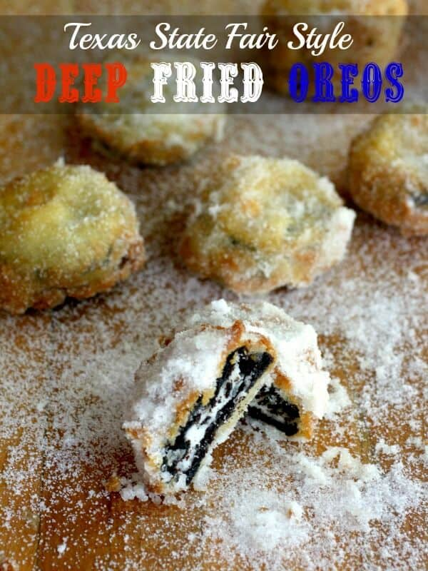 fried oreos on table with title text overlay