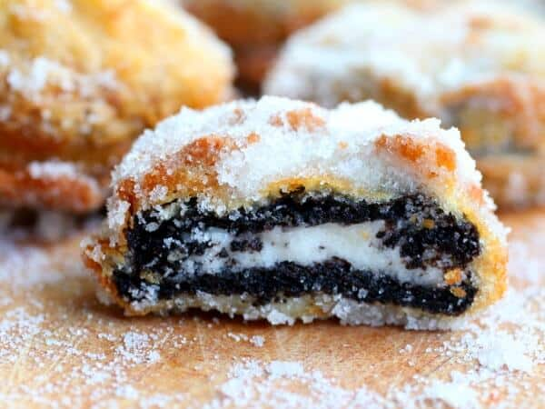 Deep fried Oreos just like the state fair