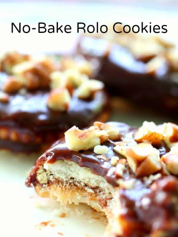 No Bake Rolo Cookies Are Full Of Chocolatey Caramelly Salty Sweet Goodness