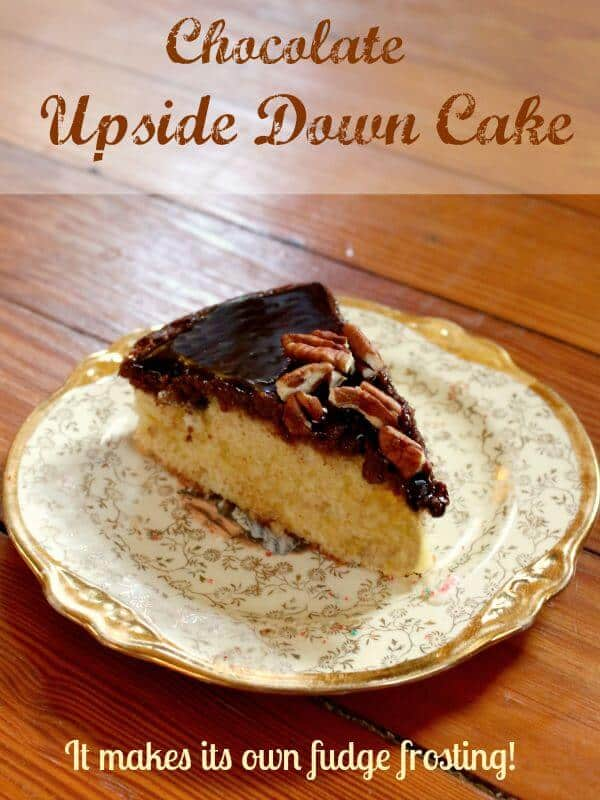 Chocolate upside down cake is an easy recipe . Buttery, tender yellow cake makes its own fudge frosting as it bakes! So good and so easy! restlesschipotle.com
