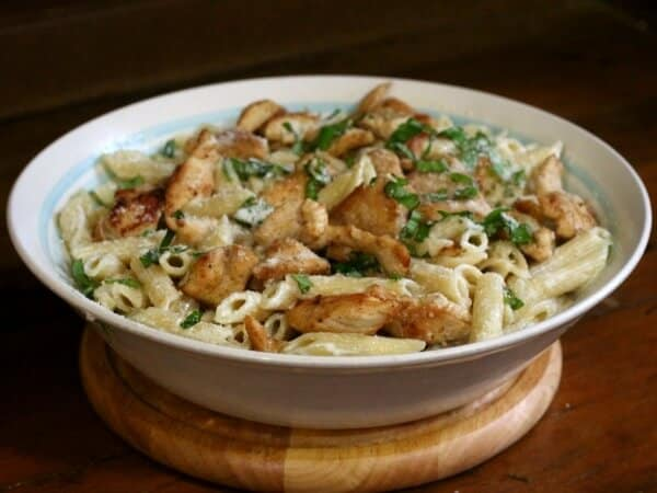 Grilled Chicken Alfredo That Beats Olive Garden Restless
