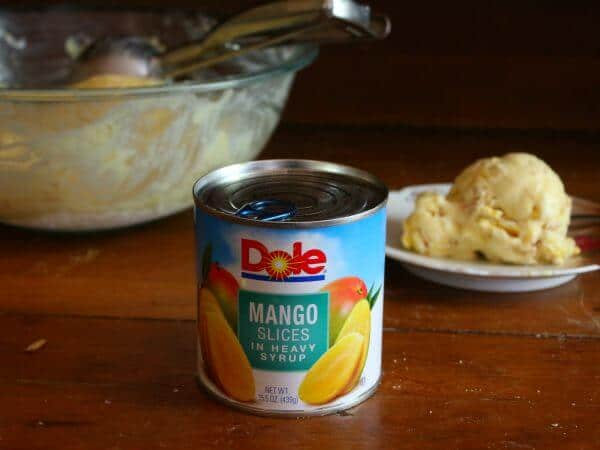 Homemade mango tango ice cream is easy to make with DOLE canned fruit - #ad restlesschipotle.com