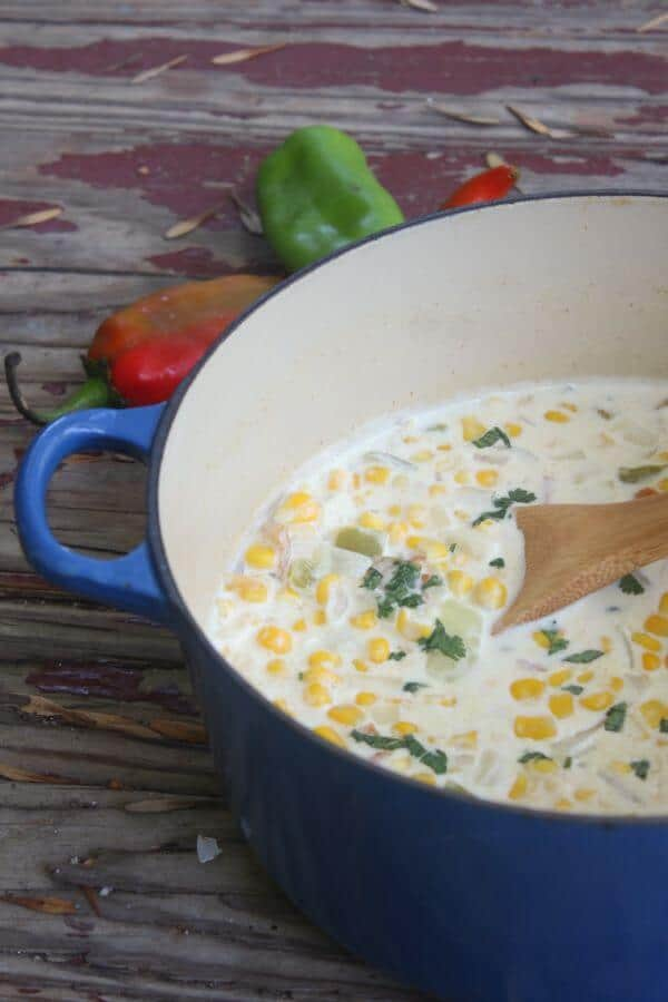 Hatch Chile Corn Chowder is rich and creamy, spicy and comforting all at the same time. Restlesschipotle.com