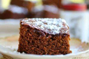 closeup of gingerbread