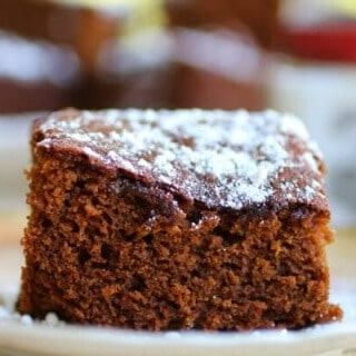 Easy and old-fashioned, this homemade gingerbread recipe will be a family favorite. From RestlessChipotle.com