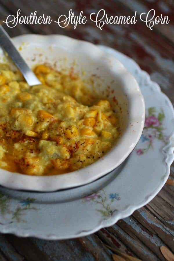 Southern style creamed corn is sweet, creamy, and comforting. Adding chiles makes it addictive. From RestlessChipotle.com