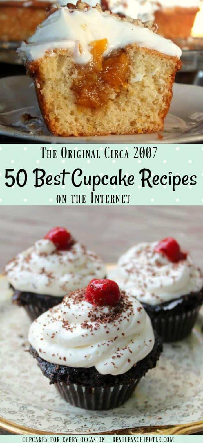 50 best cupcake recipes - a creative collection from bloggers all over the Internet. Original