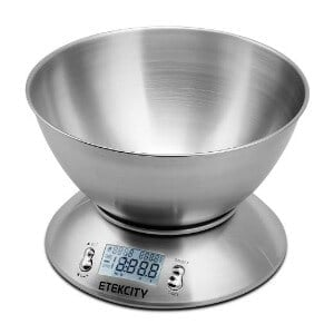 My Christmas Gift Guide for Overwhelmed foodies includes this gorgeous kitchen scale. From RestlessChipotle.com