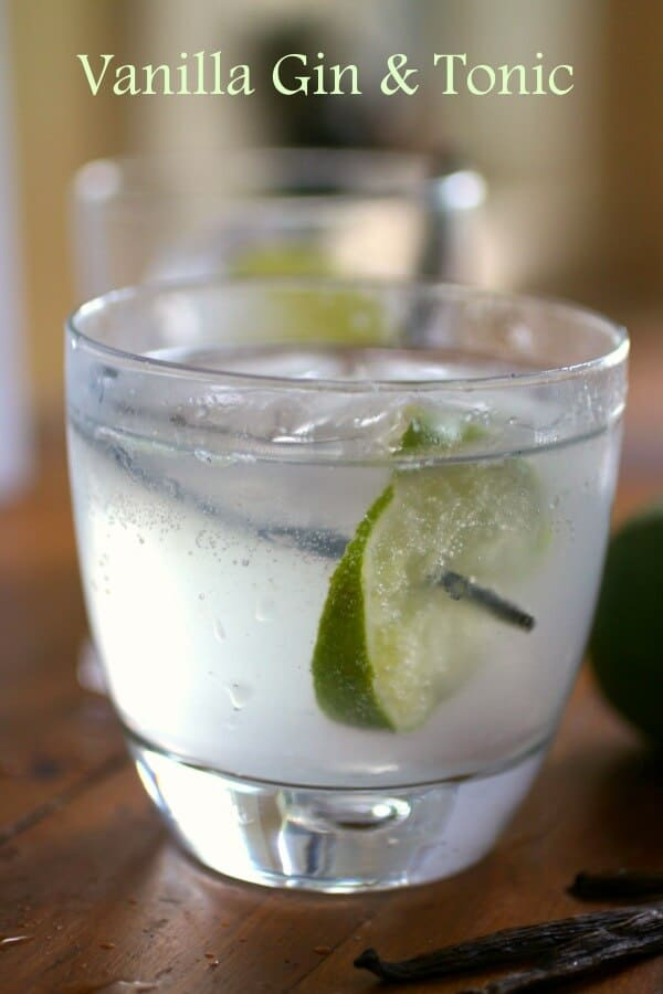 This vanilla gin and tonic is refreshing and just a little sweet. A great update on a classic cocktail from RestlessChipotle.com