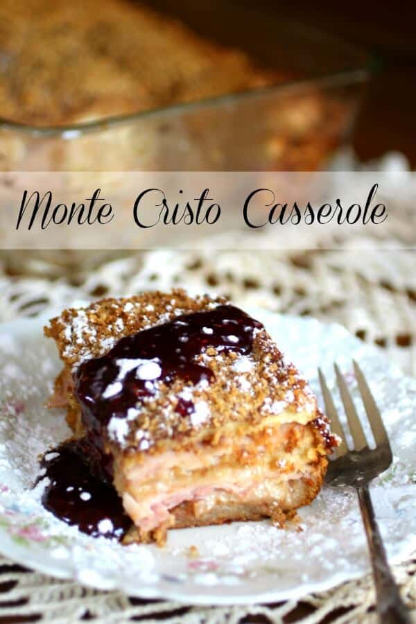 This Monte Cristo Casserole is perfect for Christmas brunch or a light dinner anytime. Layers of ham, smoked turkey, Swiss cheese, and bread are topped with a crunchy Panko crust. From RestlessChipotle.com