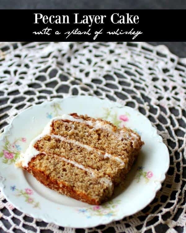 This pecan layer cake is a vintage recipe that is still so good! I added a splash of whiskey... from RestlessChipotle.com