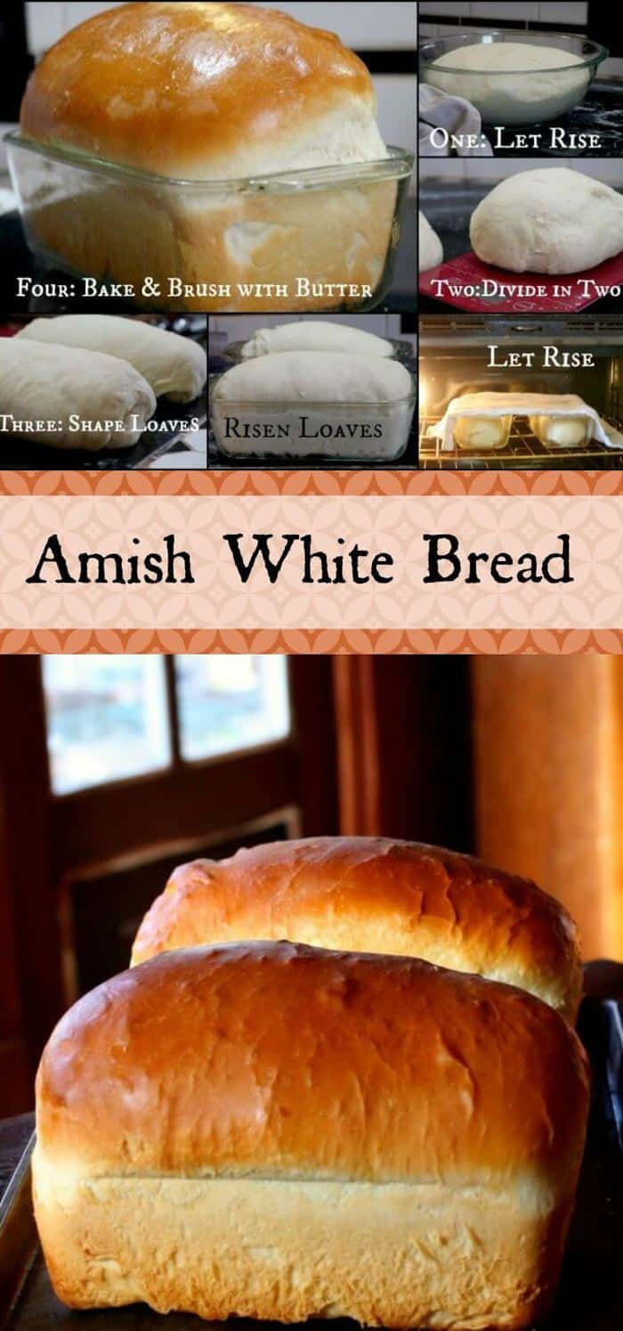 Easy Amish White bread is a sweet, velvety-textured, homemade bread that's perfect for sandwiches. You can make it by hand or in a bread machine - both instructions included. It freezes well, too.