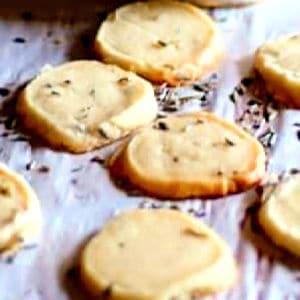 lavender shortbread cookies Ps