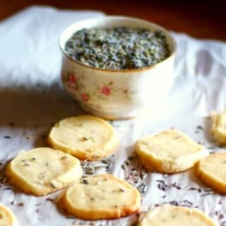 Lavender shortbread cookies are a slice and bake cookie that you'll want to keep on hand. So good! From RestlessChipotle.com