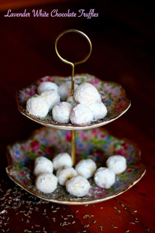Lavender white chocolate truffles have just a touch of lemon to give them a little added tang and balance the sweetness. So easy! From RestlessChipotle.com