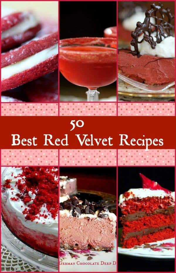 50 of the best red velvet recipes anywhere for all kinds of things from red velvet waffles to red velvet fudge. RestlessChipotle.com