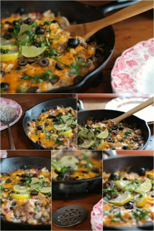 Quick and easy beef taco skillet dinner is my go to meal when I don't have much time to fix dinner. Love this recipe! From RestlessChipotle.com