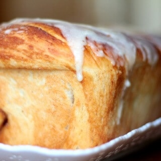 Buttermilk cinnamon bread has that lick-worthy buttery sweet glaze - the thicker the better! From RestlessChipotle.com