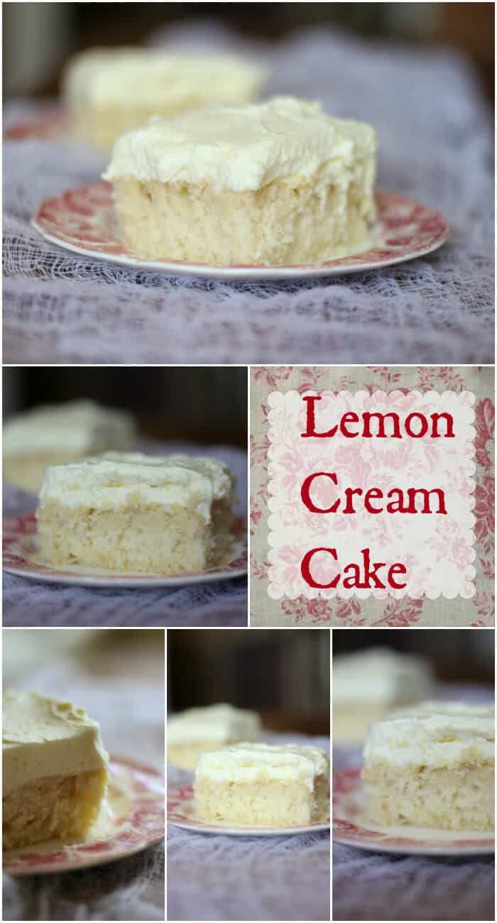 Easy lemon cream cake recipe with a rich whipped lemon frosting is made from scratch. You have to try this! YUM! from RestlessChipotle.com
