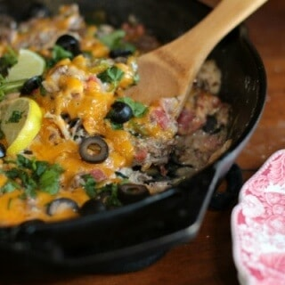 This quick and easy beef taco skillet is a perfect meal for a busy weeknight. From RestlessChipotle.com