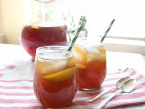 bourbon peach tea feature image