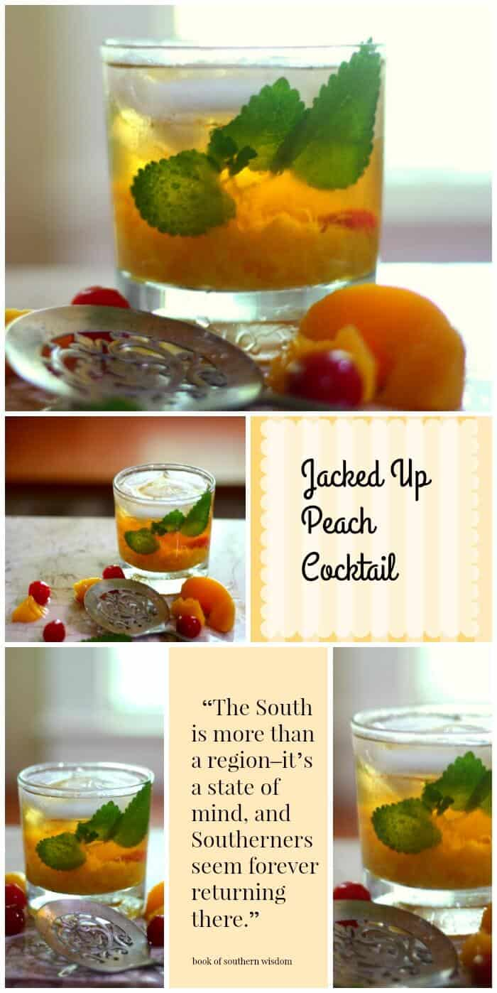 Refreshing peach cocktail made with Jack Daniels is perfect for those long hot summer afternoons. From RestlessChipotle.com