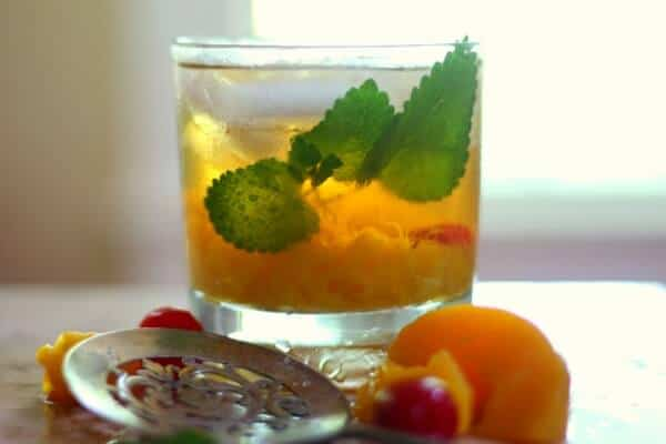 Jacked up peach cocktail tastes like a southern summer day! From RestlessChipotle.com
