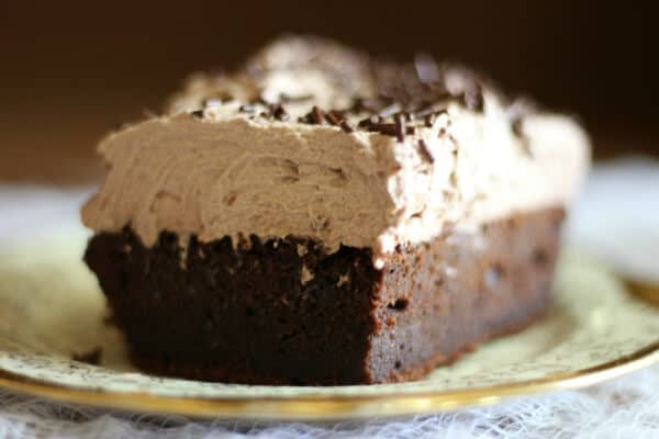 This is the best chocolate sheet cake recipe ever! From RestlessChipotle.com