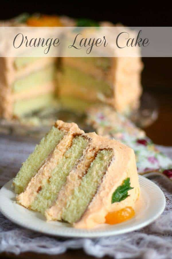 This homemade orange layer cake is three layers high and made with fresh oranges. It's so good! From RestlessChipotle.com