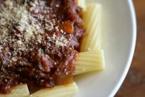 Slow cooker beef ragu is the perfect sauce for rigatoni or pappardelle. from restlesschipotle.com