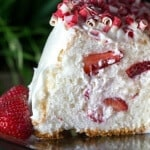 Strawberry filled angel food cake it light and so good!