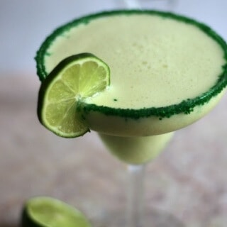 Key lime pie margarita is easy to make -- so good!!! From RestlessChipotle.com