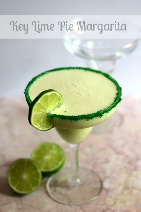 Key lime pie margarita is creamy, tangy, and a little bit sweet. SO YUMMY! from RestlessChipotle.com