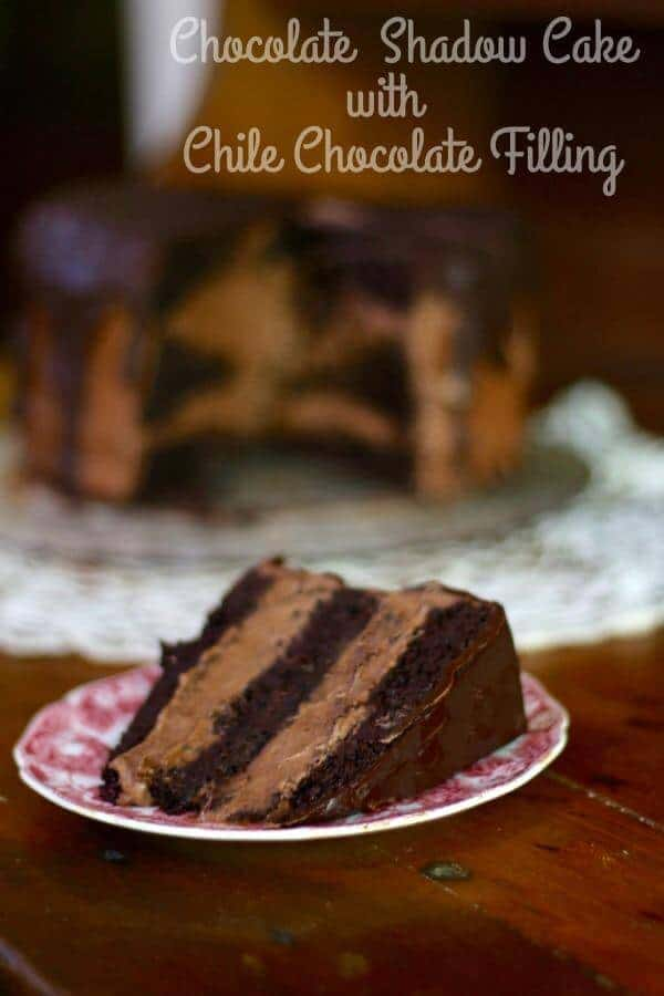 Homemade Chocolate Shadow Cake is chocolate overload with just enough chile to keep things interesting. From RestlessChipotle.com