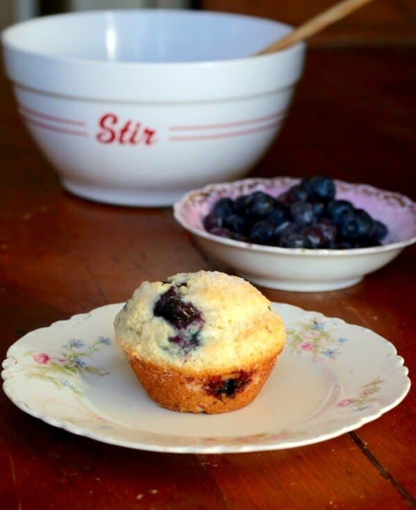 Buttermilk Blueberry Muffins are super easy to make and so moist! From RestlessChipotle.com