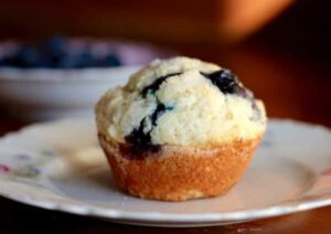 Easy buttermilk blueberry muffins are just right for lazy weekend breakfasts. From RestlessChipotle.com