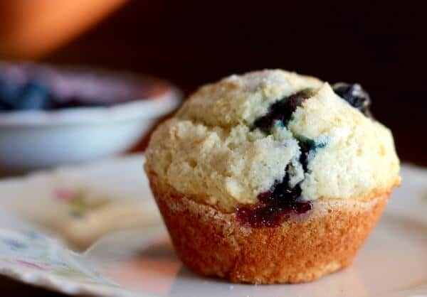 Buttermilk blueberry muffins are made from scratch - so yummy! from RestlessChipotle.com