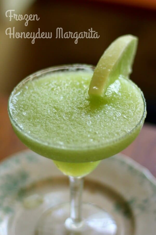 This frozen honeydew margarita is a light and refreshing summer cocktail ... from RestlessChipotle.com