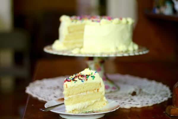 Lemon Layer Cake With White Chocolate Ganache Restless