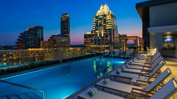 Enjoy drinks and a gorgeous Texas Sunset at Westin Austin's rooftop bar. From Restlesschipotle.com