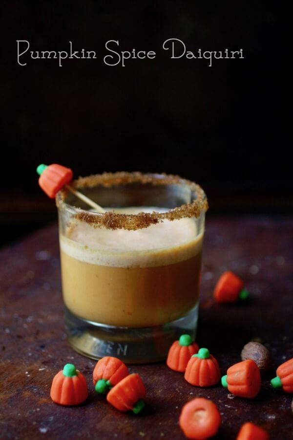 Pumpkin Spice Daiquiri is the perfect fall cocktail. From RestlessChipotle.com