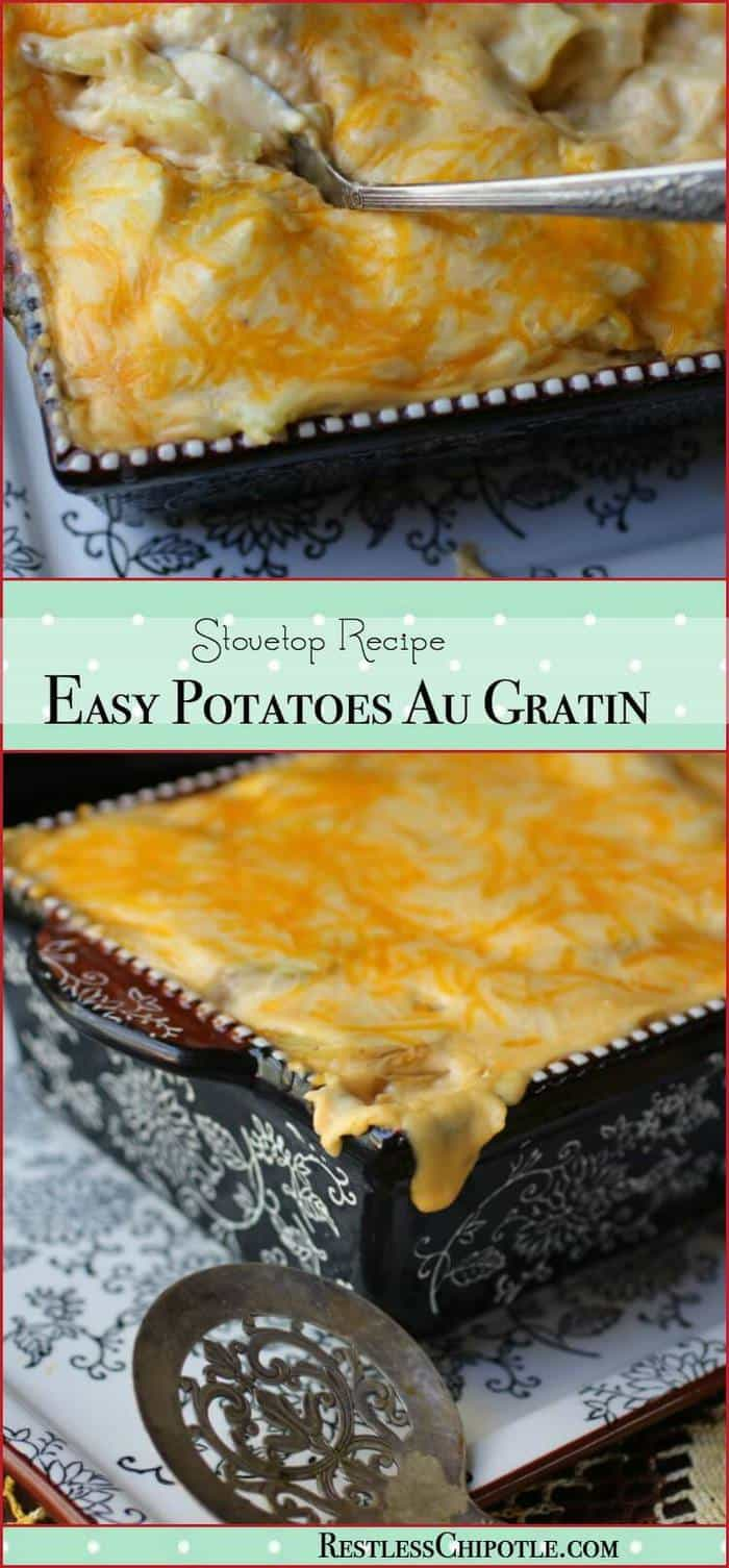 Quick And Easy Au Gratin Potatoes Recipe Is Made Right On Top Of The Stove