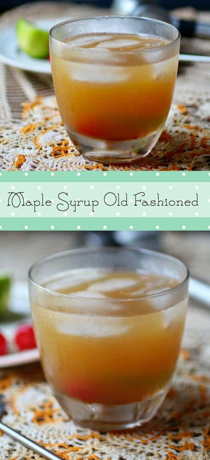 Easy fall cocktail! Maple Syrup Old Fashioned is made with bourbon and maple flavors. From RestlessChipotle.com