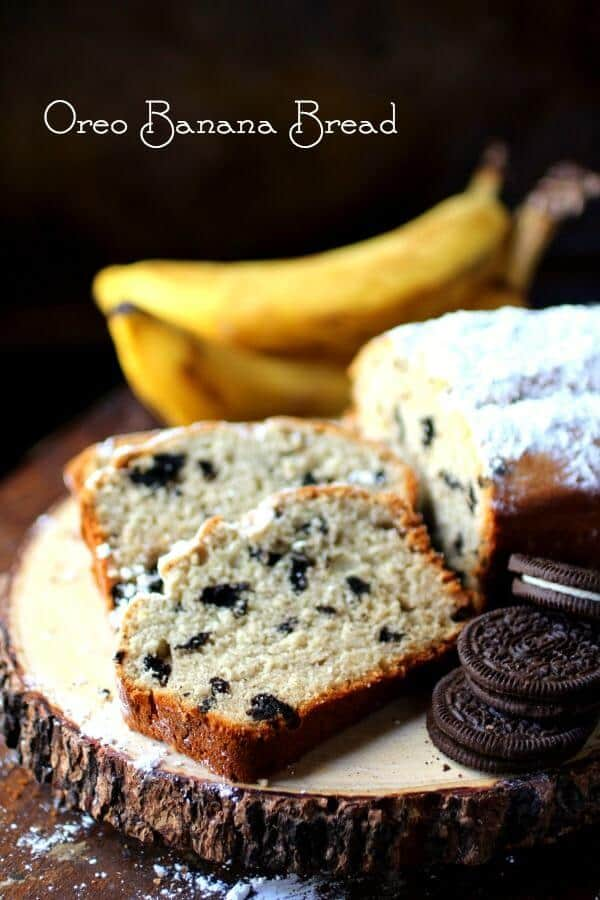 Easy banana bread recipe with a blast of chocolate Oreo cookie flavor in each bite! It's the best ever! From RestlessChipotle.com