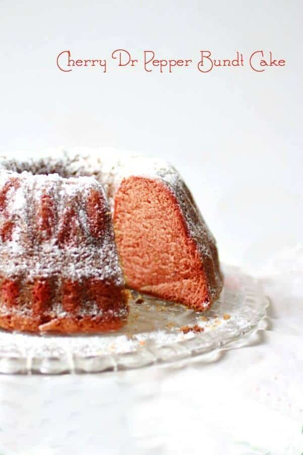 """Dr Pepper Cake is made from a """"scratch"""" recipe using either Dr Pepper or Cherry Dr Pepper. Buttery, moist, and just as delicious as a bundt cake should be! From RestlessChipotle.com"""